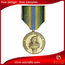 Olympic torch logo metal medal / sovenir custom metal medal