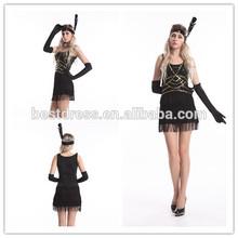 De China proveedor mujeres negro $number de la aleta del traje de Halloween para adultos de lujo trajes de vestir