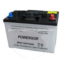 performance high starting battery N70 JIS batterie auto korea