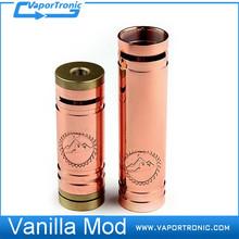 E-cigarette Wholesale Distributor Copper Vanilla Mod Huge Vapor Copper Vanilla 18350 or 18650 Body 1:1 Clone Mechanical Mod