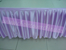 decorative ruffled table skirt for wedding events,party, hotel
