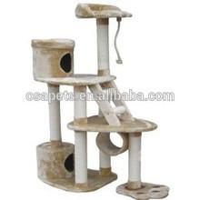 plush cat shaped deluxe pet cat condo cat tree