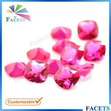 FACETS GEMS High Quality Factory Price Square Synthetic Ruby