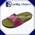 personnalisé de haute qualité cork semelle des sandales pour dame