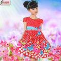 novo modelo borboleta dotimpresso vestido para a menina 5 anos