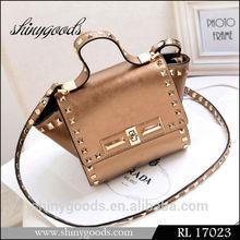 FL17023 Latest Cheap Wholesale Popular shoulder bag, Rivet leather shoulder bag