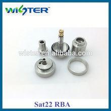2014 new design dual coil rda atomizer S.O.D 5k rda ss glass saat22 dripper atomizer