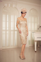 LJ706 Best Collection Sheath See Through Long Sleeve Lace Knee Length Sex Mother Of The Bride Dress