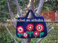 حقيبة يد الكروشيه، حقيبة الكروشيه زهرة الطفل، الصوف زهرة الكروشيه حقيبة، شانغراو مصنع الكروشيه متماسكة