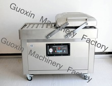 double chamber industrial vacuum packaging machine meat