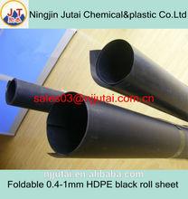 Foldable 0.4-1mm HDPE black roll sheet
