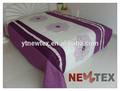luxo bordado tarja de jogos do comforter roxo acolchoado cozy patchwork colcha conjuntos
