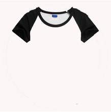60% cotton 40% polyester 3/4 sleeve raglan t-shirt