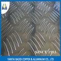 made in china 1050 1060 1100 h14 cinco barras de alumínio folha de chão