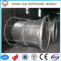 horizontal de plástico tanque de agua de acero de rotación del molde