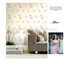 home decoration design non woven backed modern leaf italian famous non-woven wallpaper