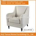 Poltrona, designer, algodão e madeira, movable almofada do assento, tb-7298