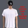 wholesale cheap bulk plain 100% white polyester t-shirt for sublimation printing