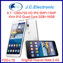 """Original Huawei Mate 2 Ascend 4G FDD LTE Android Mobile phone Quad Core 13MP 4050MAH IPS HD 6.1"""" Magic Touch 2G RAM 16GROM WCDMA"""