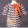Boutique Baby Girls Thanksgiving Turkey Dress Fancy Girl Party Wear Western Dress 2014 Baby Frock Designs