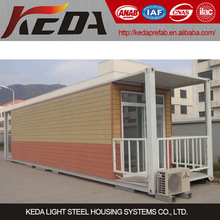 2014 latest design Comfortable self contained container house for shop