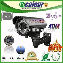Low illumination IP66 Manual Zoom cctv accessories 420-1200TVL