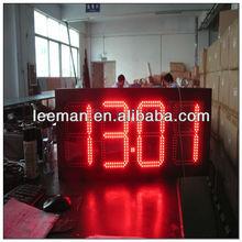 gas station led display board 7 segment led large digital wall clock time display wireless basketball shot clocks and controller
