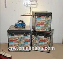 Wholesale large decorative antique storage trunks