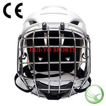 Ice hockey helmet, Hockey equipment, White hockey helmet