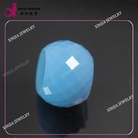 light blue cz loose kundan beads