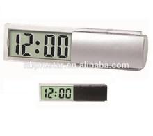 Desktop clock/ mini size digital weather station clock/ hot selling glass promotion desk clock