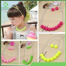 Korean fashion fluorescent children's necklace, baby bead chain bracelet jewelry