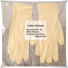 Factory price 9 inch white for industry use single use gloves powder disposable latex glove