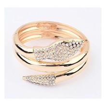 Wholesale 2014 fashion gold plated snake bracelet with rhinestone