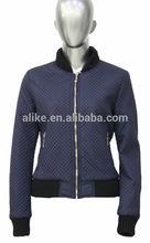 Especial diamante acolchoado jaqueta para mulheres bombardeiro jaqueta