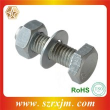 Stainless Steel/Carbon Steel Hex Bolt And Nut With Washer, Hot Dip Galvanized Bolt And Nut