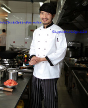 China High Quality Poly Cotton French Style Long Sleeve Chef Coats Chef Jacket for sale