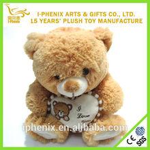 Custom Mini Teddy Bear With Sweet Heart Plush Toy Valentines Gift