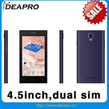 hot selling wifi mobile mtk6572 dual core GSM WCDMA 4.5inch oem dual sim mobile phone