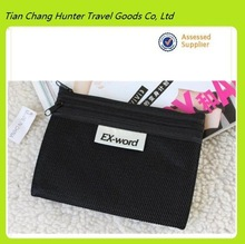 2014 hot sale black cotton mesh cell phone wallet bag