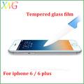 Xwg nouvelle marque 9 H dureté anti-rayures Anti - déflagrant 9 H dureté Mobile utilisation du téléphone film de protection pour iphone 6 6 plus trempé
