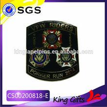 metal logo badge die-casting custom military lapel pin commemorative gifts