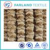 modern design shaggy carpet fabric pv plush with brushed fabric fake fur coat fabric