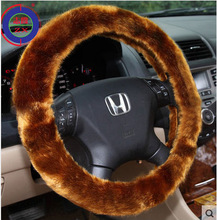 Hot sell !! Automobile steering wheel covers with 5 different colours black,grey,beige,red,khaki