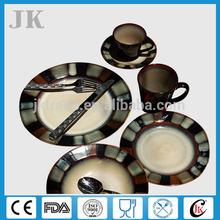 Promotional new design cheap bone china portuguese ceramic dinnerware 5pcs