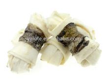 wholesale dog snack fishskin wraps rawhide dog bones