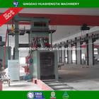 Profiled bar roller conveyor passing through type shot blasting cleaning machine line on sale