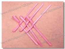 pink satin & sheer bow