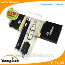 big vapor e cigarette with adjustable voltage Tesla sidewinder II with 2000mah VV batteries