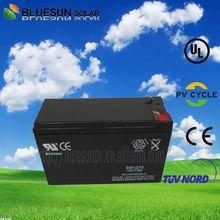 Long service life battery supplier solar dry cell battery 12V7AH lead acid battery